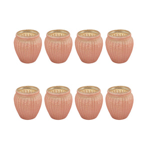 Northern Lights Candles / Lustre Votive Holder - Rose (8 Pack)