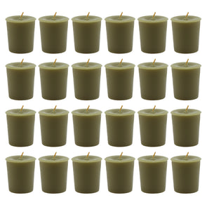 Unfragranced Votives - Moss Green (24 Pack) - Northern Lights Candles