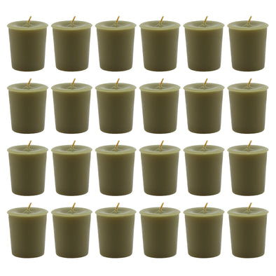 Northern Lights Candles / Unfragranced Votives - Moss Green (24 Pack)