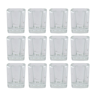 Northern Lights Candles / Square Votive & Tealight Holder (12 Pack)