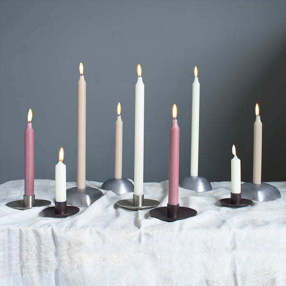 "Northern Lights Candles / 7"" Tapers 12pk - Bordeaux"