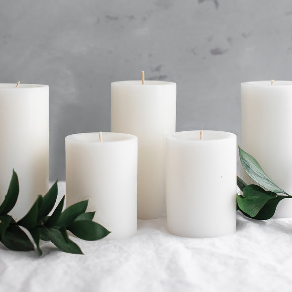 Northern Lights Candles / 3x6 Pillar - Moss Green