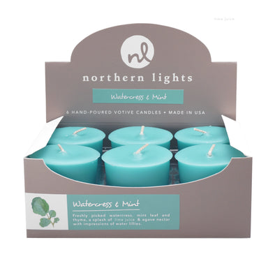 Northern Lights Candles / Votives - Watercress & Mint
