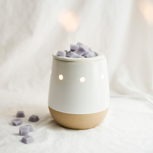 Northern Lights Candles / Electric Wax Melt Warmer - White Matte