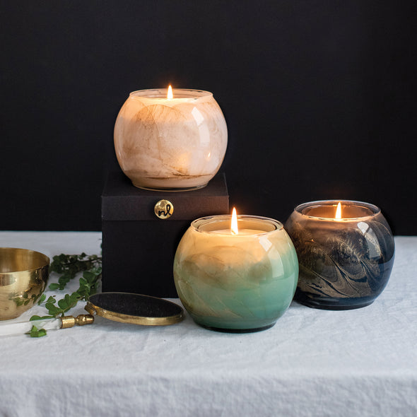 "Northern Lights Candles / 4"" Globe - Dusky Rose"