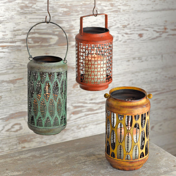 Nomad - Copper Green Lantern - Northern Lights Candles