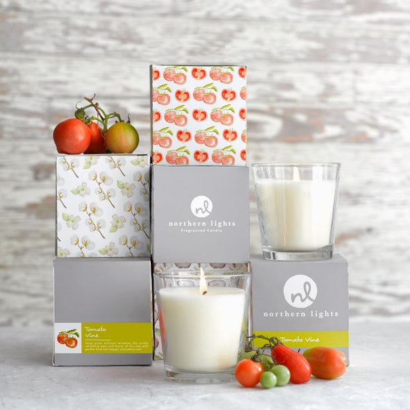 Northern Lights Candles / White Candle - Rose Hip & Lychee