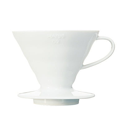 White V60 Ceramic Coffee Dripper 02