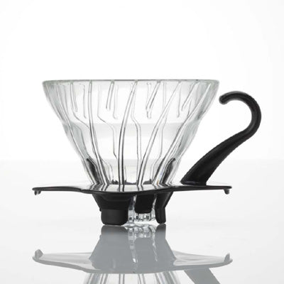 Black V60 New Glass Coffee Dripper 01