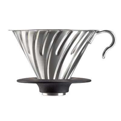 Silver V60 Metal Coffee Dripper 02