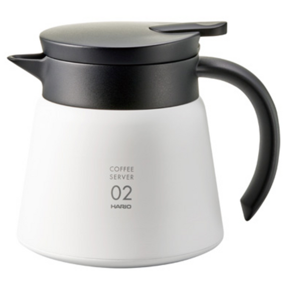 V60 Insulated White Stainless Steel Server