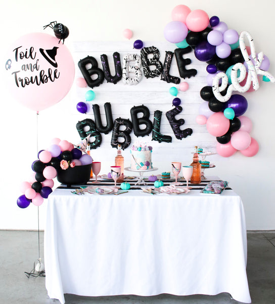 Bubble Bubble Toil and Trouble. A girly Halloween soiree