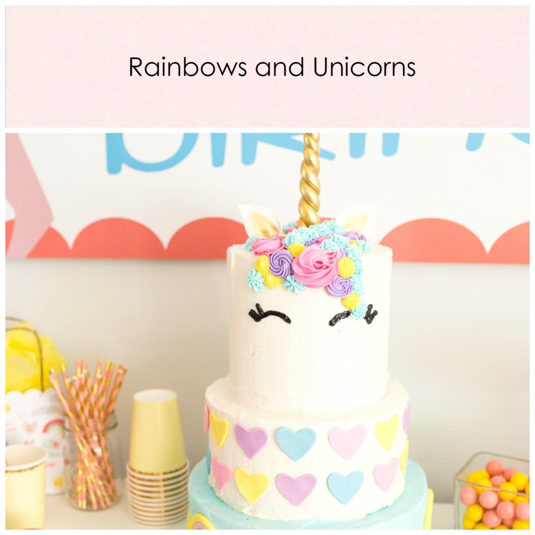 Rainbow & Unicorns. Party in a box. - Little Rose Party Company