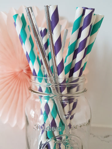 Mermaid straw mix - Little Rose Party Company