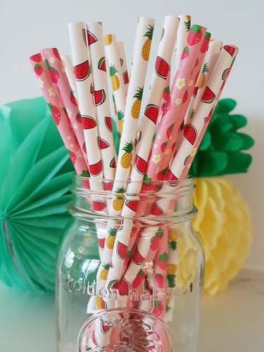 Summer fun straw mix - Little Rose Party Company