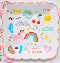 Rainbows and Unicorns dessert plate - Little Rose Party Company