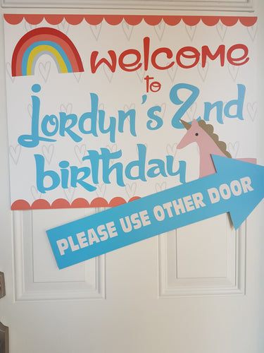 Customised welcome signs - Little Rose Party Company