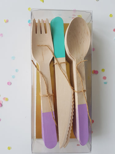 Mermaid mix cutlery set - Little Rose Party Company