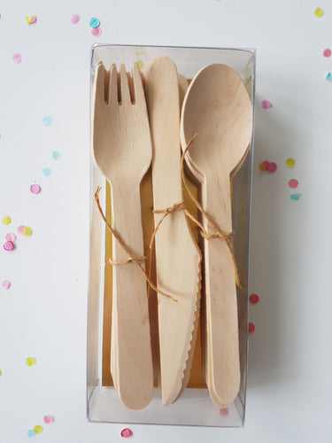 Naked cutlery set - Little Rose Party Company