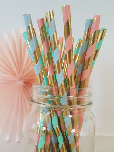 Unicorn straw mix - Little Rose Party Company