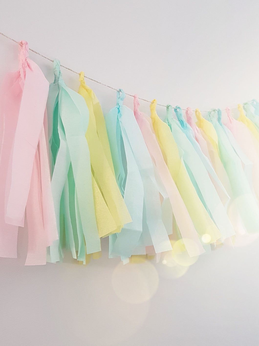 Unicorn tassel banner - Little Rose Party Company