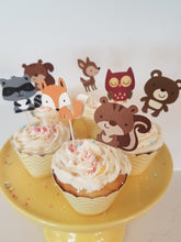 Woodland animal cupcake toppers - Little Rose Party Company