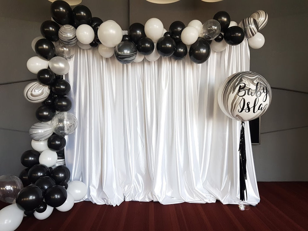 Backdrop set up - Little Rose Party Company