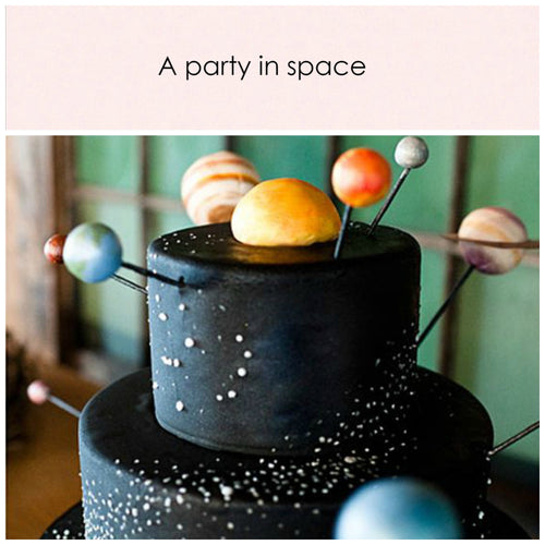 A party in space. Party in a box - Little Rose Party Company