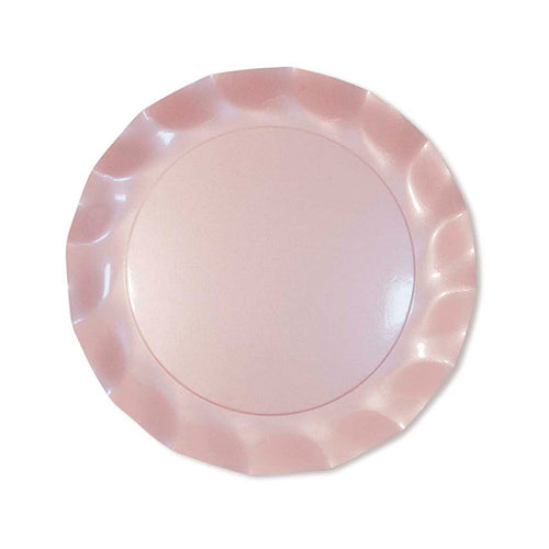 Pearly pink petalo dinner plate