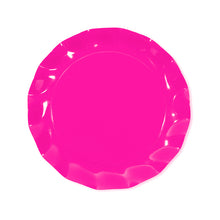Hot pink petalo dinner plate - Little Rose Party Company