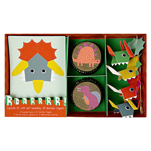Dinosaur cupcake kit - Little Rose Party Company