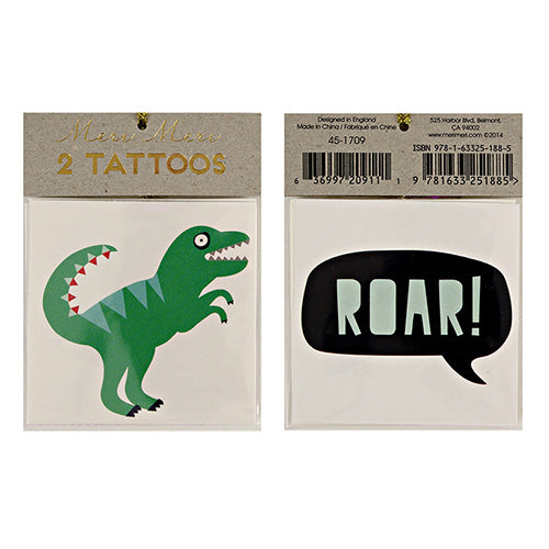 Dino tattoos - Little Rose Party Company