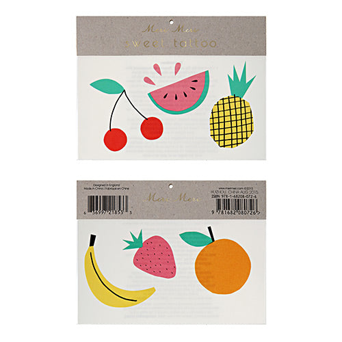 Fruit tattoos - Little Rose Party Company