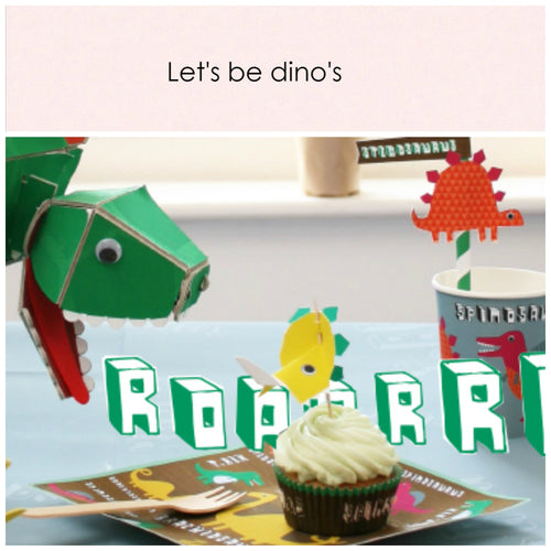 Let's be dino's. Party in a box - Little Rose Party Company