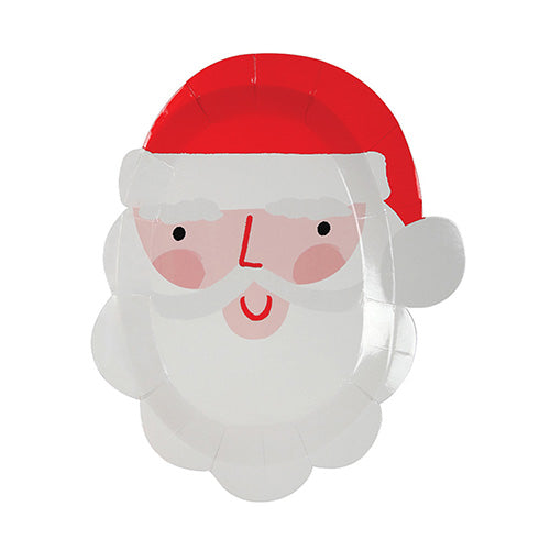 Santa head plate - Little Rose Party Company