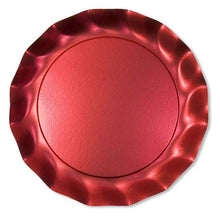 Satin red charger plate - Little Rose Party Company
