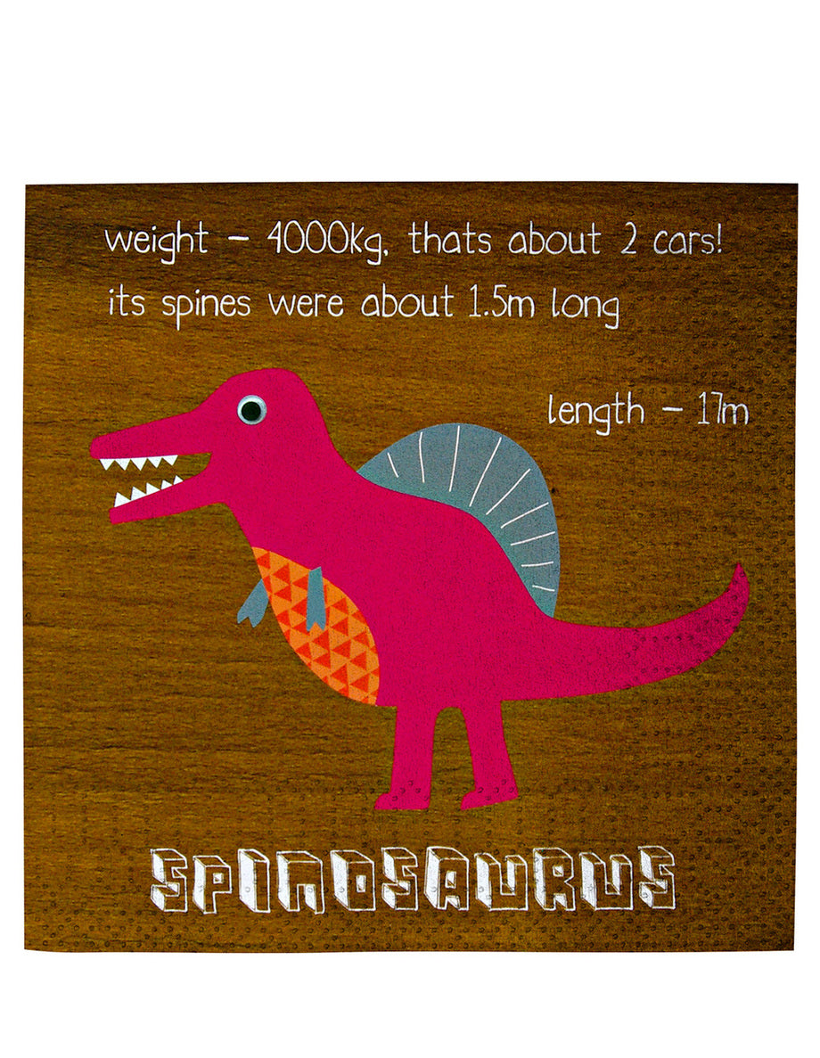 Dinosaur napkins - Little Rose Party Company