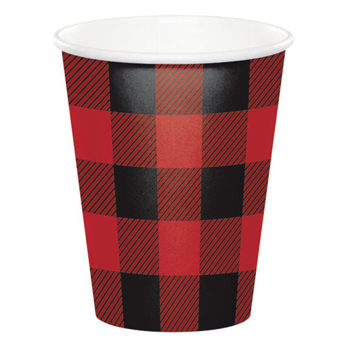 Buffalo plaid cup - Little Rose Party Company