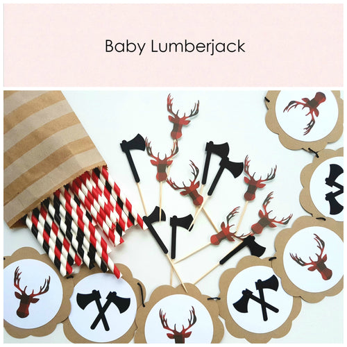 Baby lumberjack - Little Rose Party Company