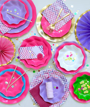 Hot pink petalo dessert plate - Little Rose Party Company