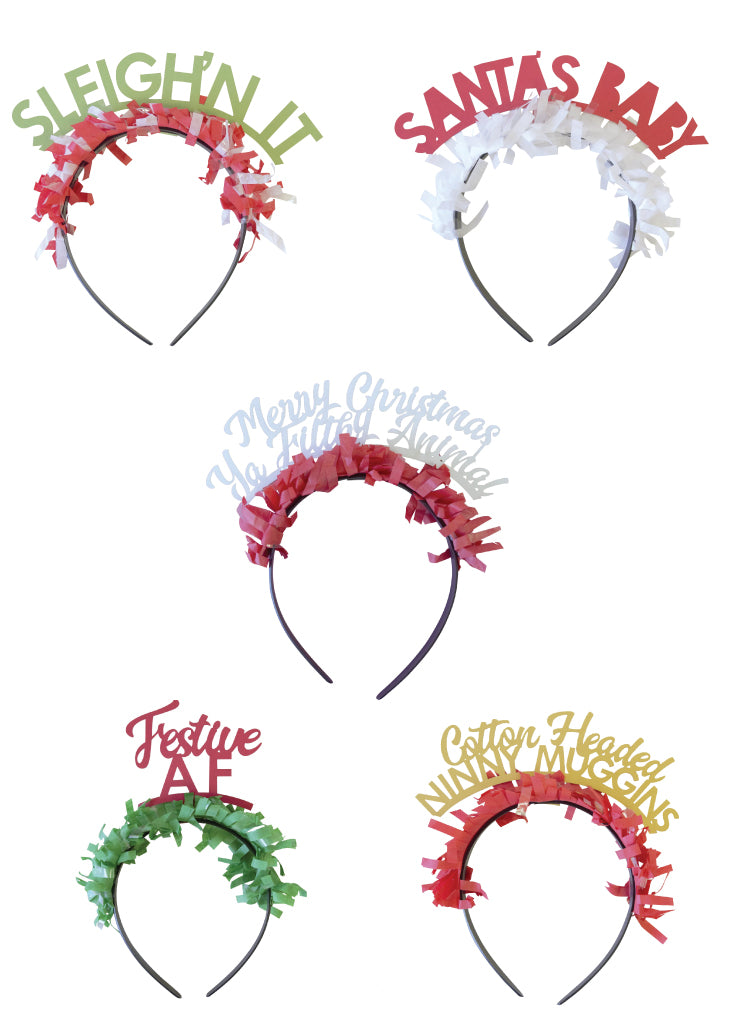 Party headbands! Holiday pack - Little Rose Party Company