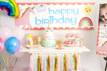 Rainbow and Unicorn customised banner - Little Rose Party Company