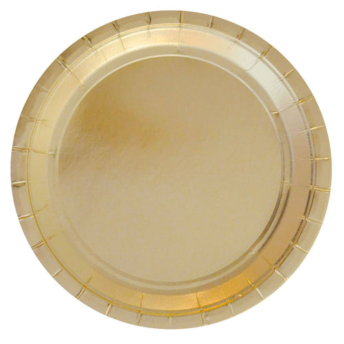 Gold large plate - Little Rose Party Company