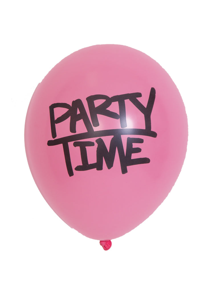 Party Time! Printed balloons - Little Rose Party Company