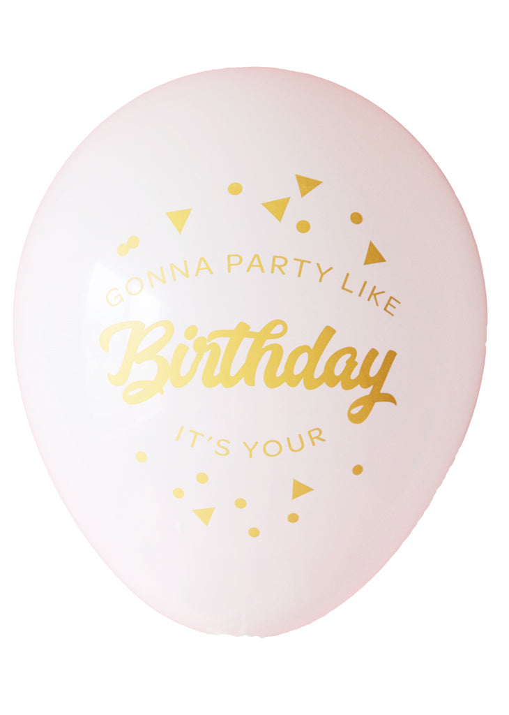 Party like it's your birthday! Printed balloons - Little Rose Party Company