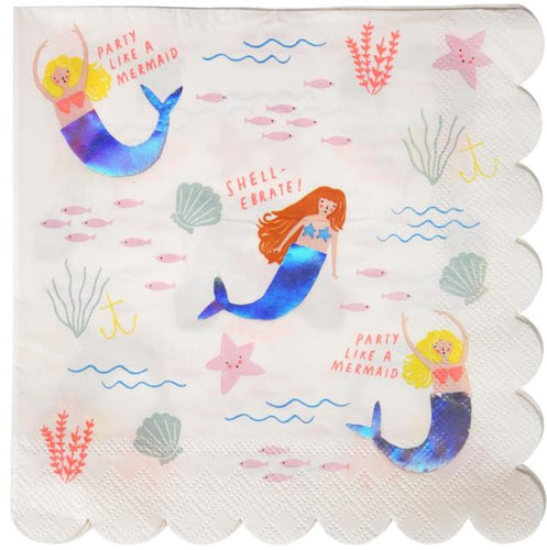 Mermaid napkin - Little Rose Party Company