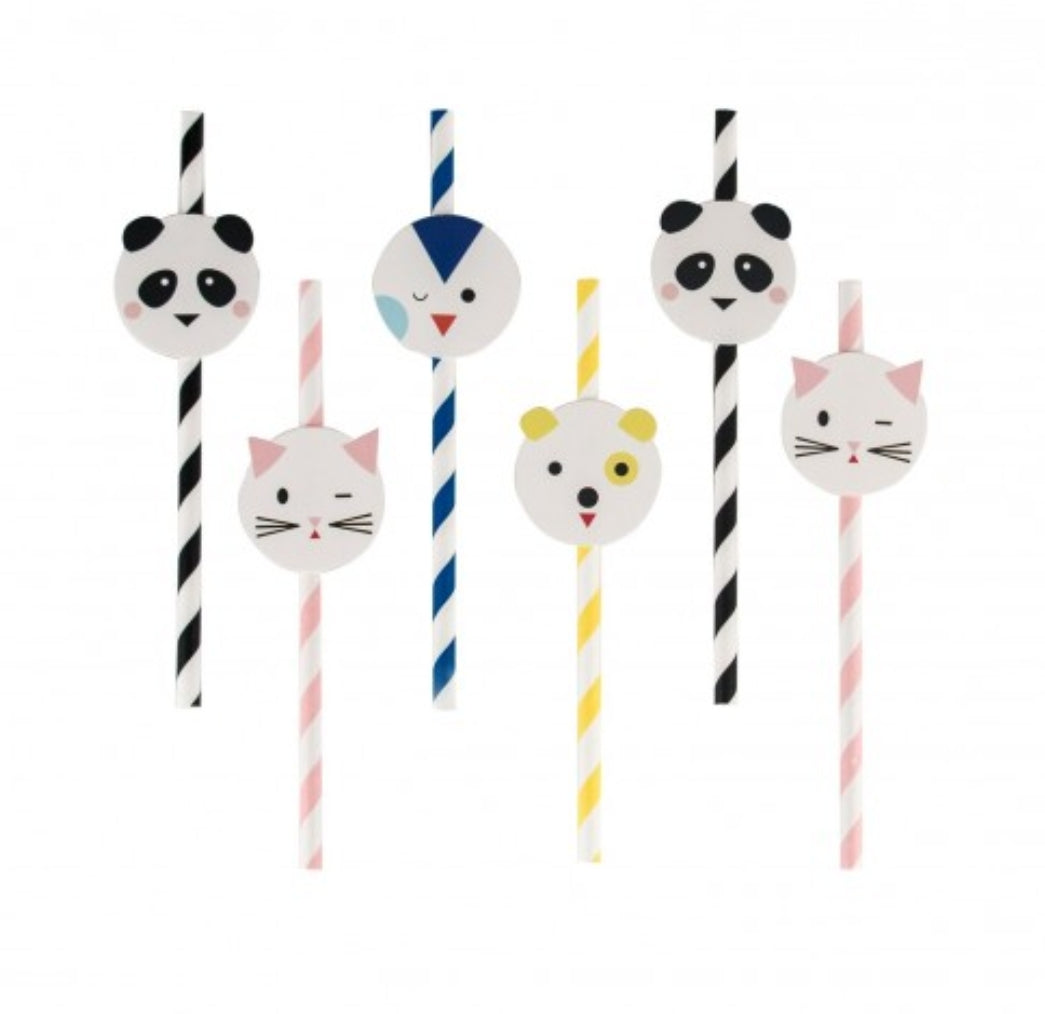 Mini animal straws - Little Rose Party Company