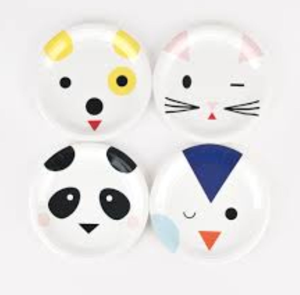 Mini Animal plates - Little Rose Party Company