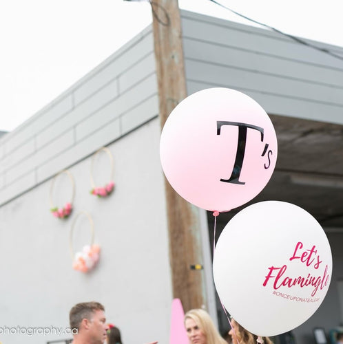 Custom printed balloons - Little Rose Party Company