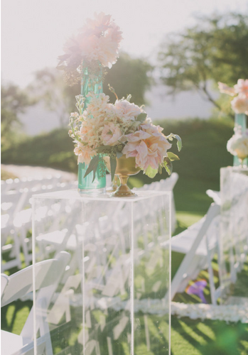 Clear Plinths - Little Rose Party Company